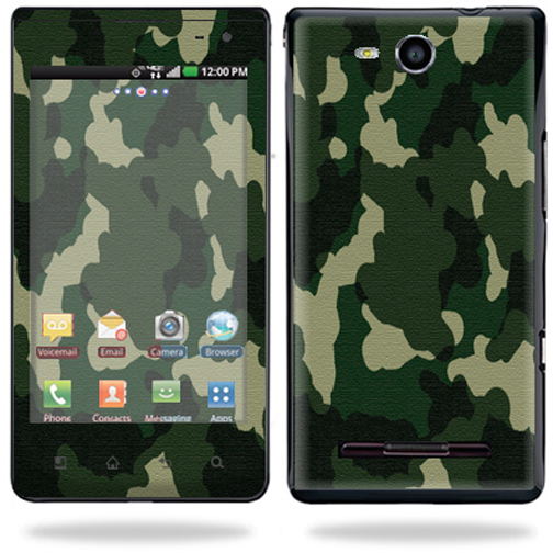 Mightyskins Vinyl Skin Decal Cover for LG Lucid 4G LTE Cell Phone wrap sticker skins Green Camo