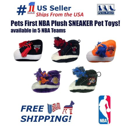 Pets First NBA La Lakers Plush Sneaker Pet Toy. Licensed, Durable, Heavy-Duty Rope DOG Toy (La Laker)