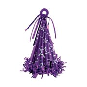 Beistle 50803-PL Cone Hat Balloon Weight Party Supplies, one size, Purple