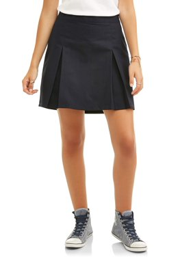 Real School Juniors' Pleat Front Scooter School Uniform Skirt