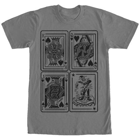 Men's King Queen Jack Joker Playing Cards T-Shirt