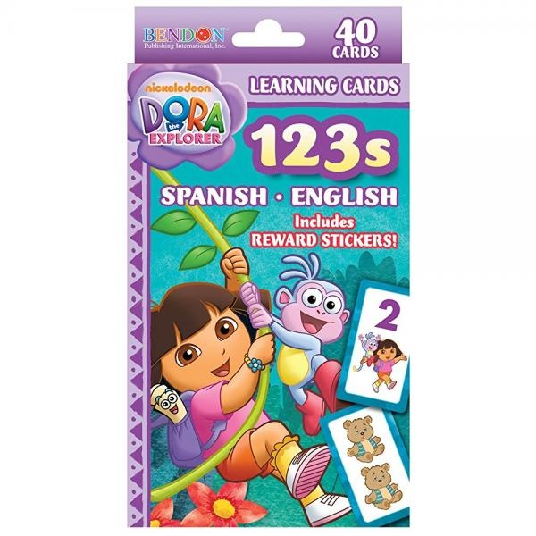 Dora 123 Spanish English Learning Flash Cards Party Supplies by