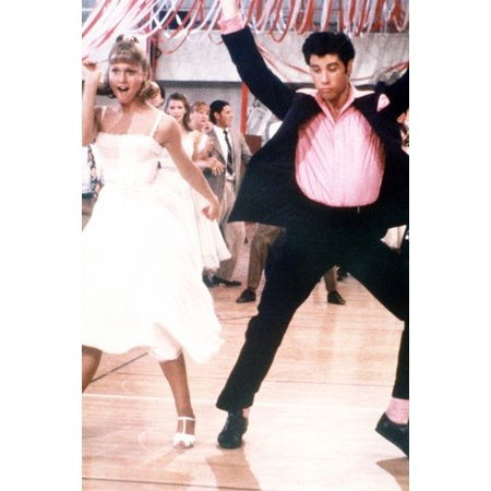 Grease Prom Theme (Olivia Newton-John and John Travolta in Grease 24x36 Poster dance up a storm at)