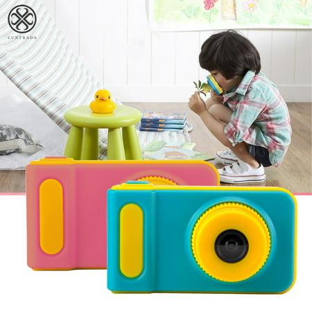 Luxtrada kids Waterproof Camera,12MP Underwater Shockproof Digital Camera & Video Camera with 2.0 Inch LCD Display Up to 10 Feet (Pink) Stylus Pink Digital Camera