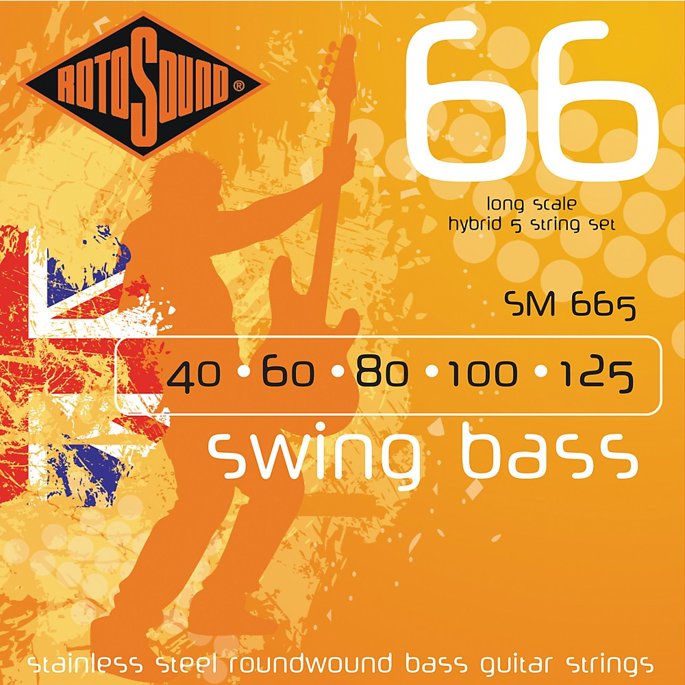 Click here to buy Rotosound SM665 Swing Bass 5-String RoundwoundBass Strings by Rotosound.