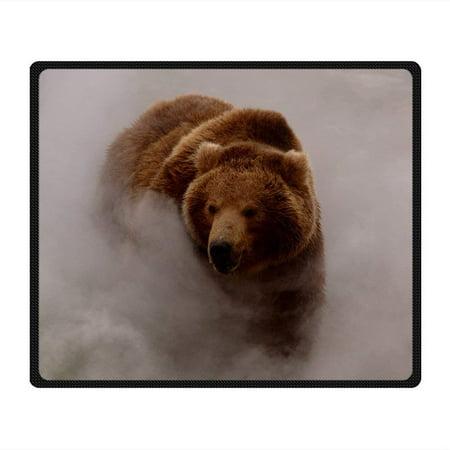 CADecor Bear Blanket Fleece Throw Blanket for Sofa or Bed 58x80 inches Bear Adventure Fleece Bed