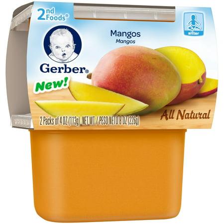 Gerber 2nd Foods Mangos Baby Food 4 Oz Tubs 2 Count