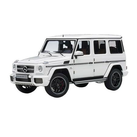 Mercedes AMG G 63 Gloss White 1/18 Model Car by