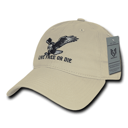 Rapid Dominance - Rapid Dominance Live Free or Die American Eagle Baseball  Dad Caps Hats Washed Cotton Polo - Walmart.com 4d75bffbc98e