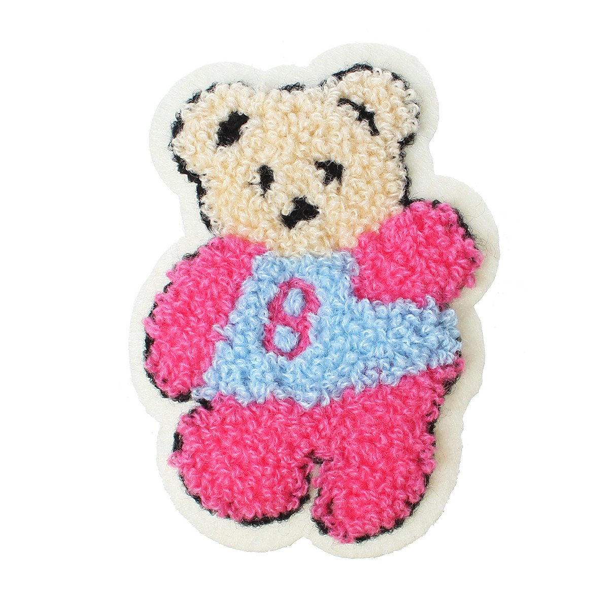 """Sexy Sparkles 10 Pcs Bear Multicolor Embroidered Cloth Iron on Patches Appliques 3-6/8"""""""