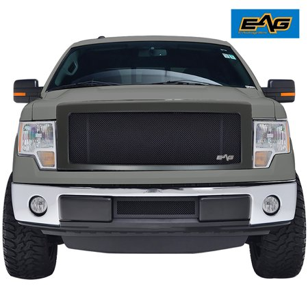 EAG Replacement Grille Stainless Steel Mesh with ABS Shell in Matte Black - fits 09-14 Ford -