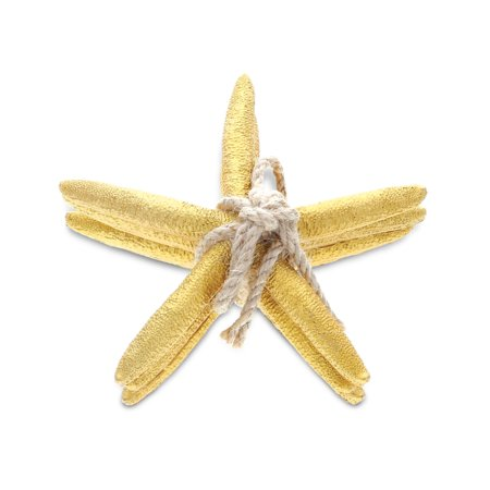 Nautical Decor CoTa Global Resin Gold Starfish Home Accents (3pc - Resin Starfish