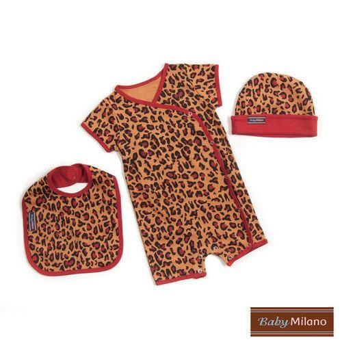 Baby milano designer baby clothes gift set in leopard print walmart