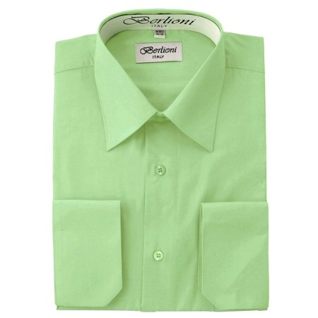 Men's Solid Color Dress Shirt (Blue Color Dress Shirt)