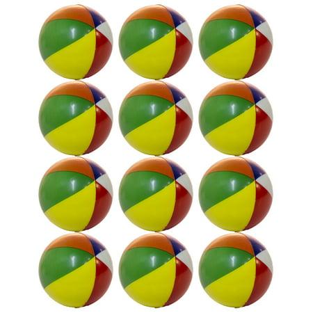 Set of 12 Mini Beach Ball 2 Inch Squeezable Stress Balls