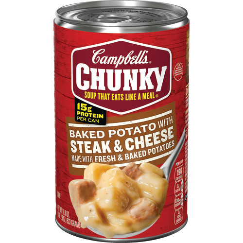 Campbell's Chunky Baked Potato with Steak and Cheese Soup, 18.8 oz.