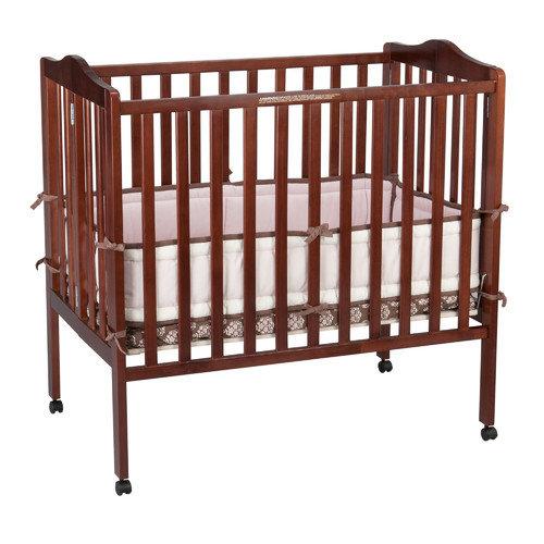 Delta Children Portable Mini Convertible Crib with Mattress