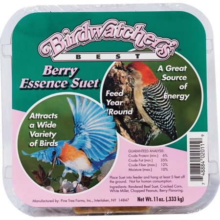 Pine Tree Farms Inc-Birdwatchers Best Suet- Berry 11 Ounce (Case of 12