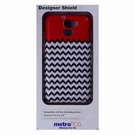 Metropcs Designer Shield Case For Huawei Premia 4G   Red   White   Black