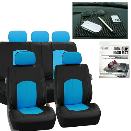 FH Group Perforated Leather Seat Covers For Auto Car Sedan SUV Van