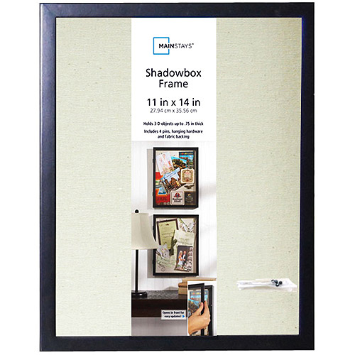 Mainstays 11 Quot X 14 Quot Hinged Door Shadow Box With Linen