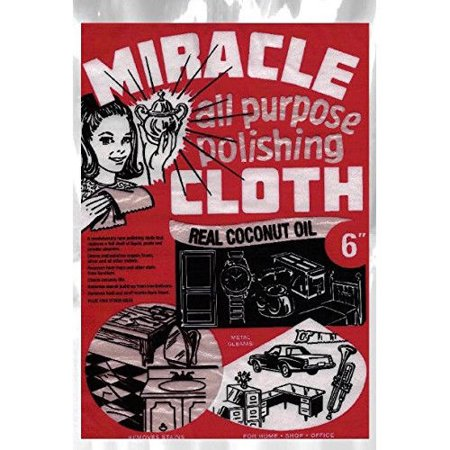 """Miracle Cloth 6"""" All Purpose Polishing Cleaning Towel 6 x 9 Real Coconut Oil"""