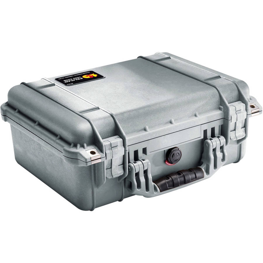 Pelican 1450 Hard Case with Pick N' Pluck Foam, Silver