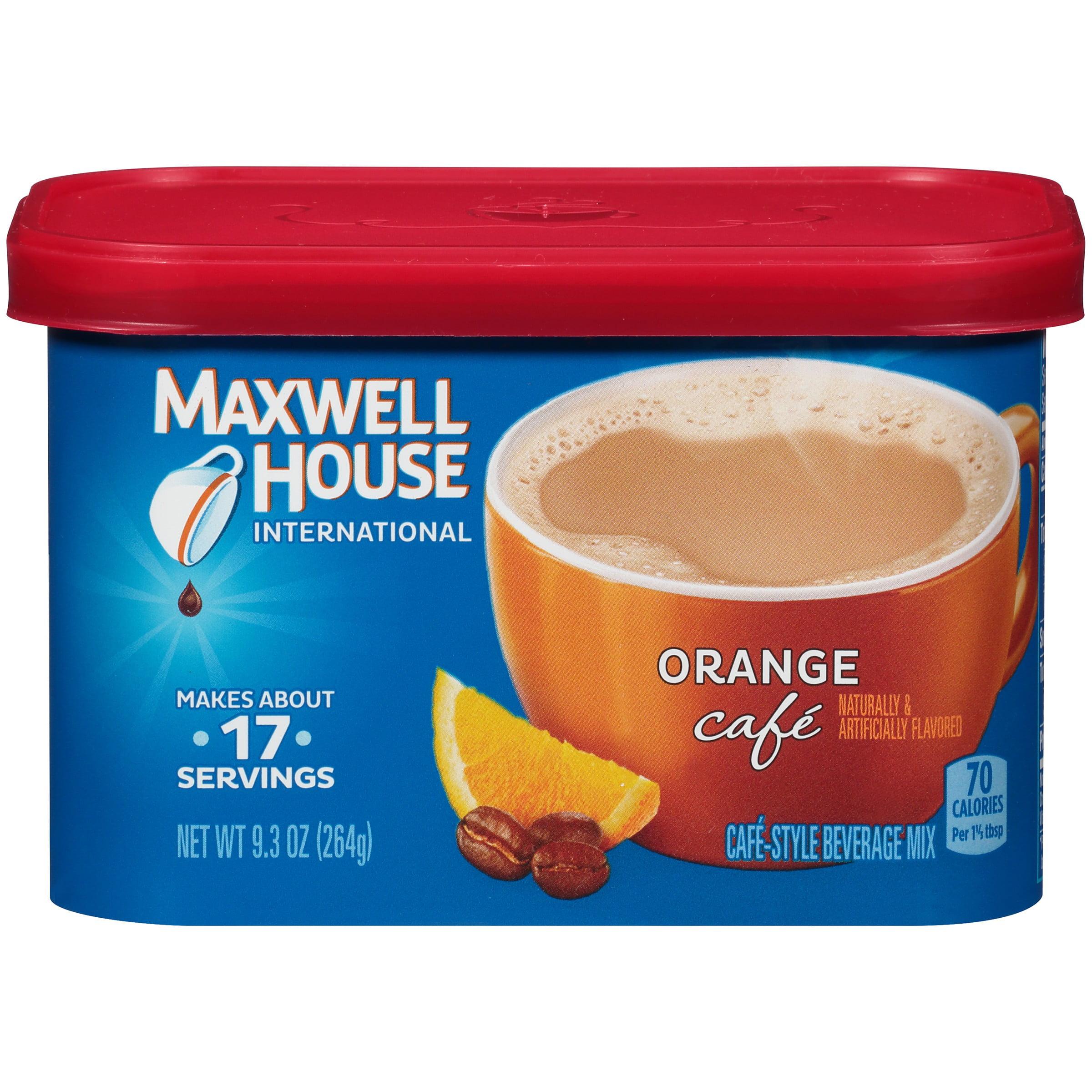 Maxwell House Orange International Cafe Beverage Mix, 9.3 OZ (264g)