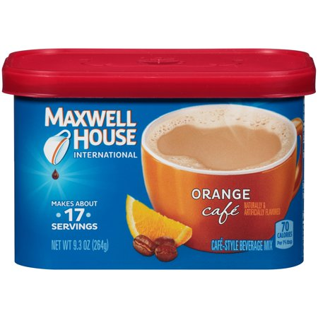 Maxwell House Orange International Cafe Beverage Mix  9 3 Oz
