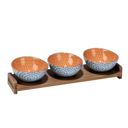 Latitude Run Hannan Swirl 4 Piece Condiment Server