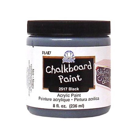 Plaid Folkart Chalkboard Paint 8oz Blk