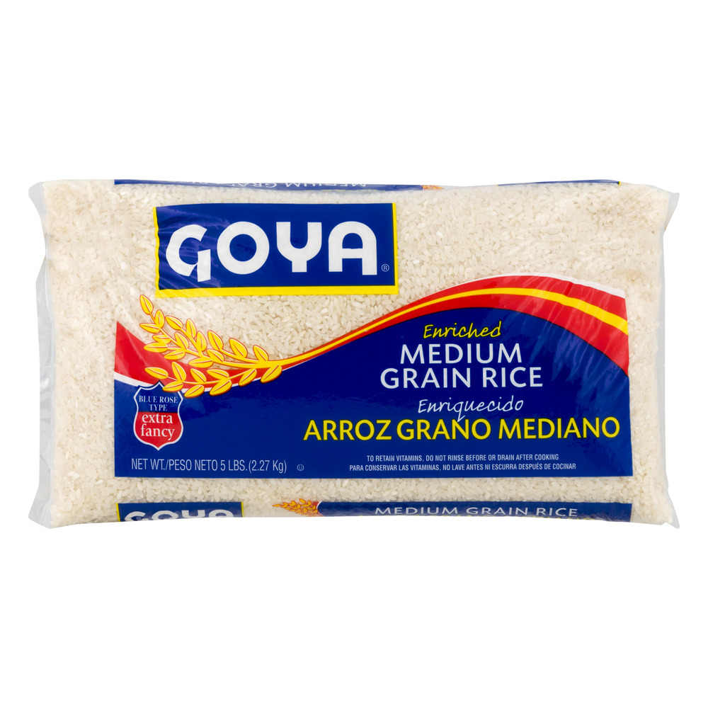 Goya Enriched Medium Grain Rice, 5.0 LB by GOYA FOODS, INC.