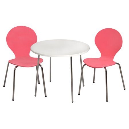 Modern Childrens Table And 2 Chair Set With Chrome Legs Walmart Com