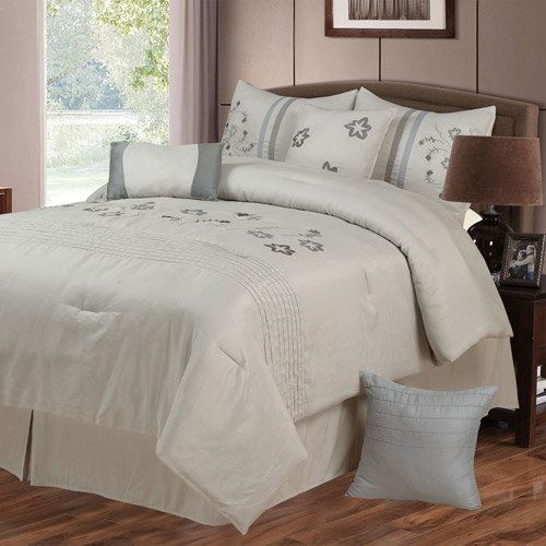 Somerset Home Daniela 7-Piece Embroidered Bedding Comforter Set