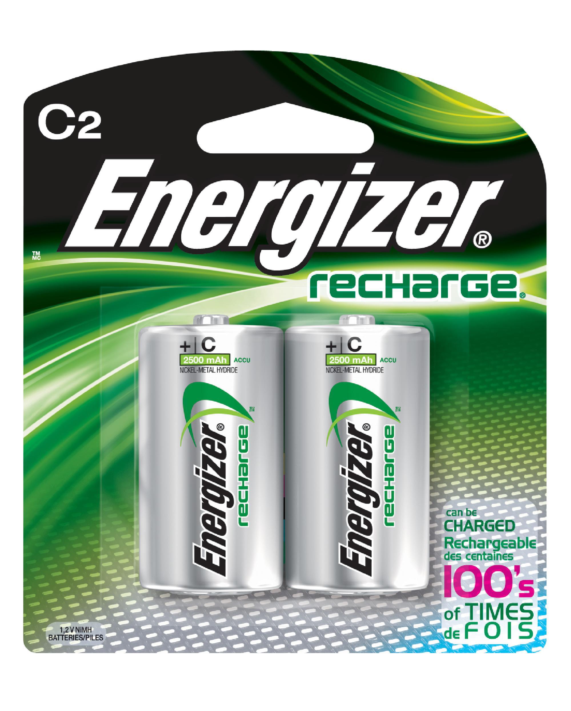 energizer rechargeable d batteries 2 count walmart