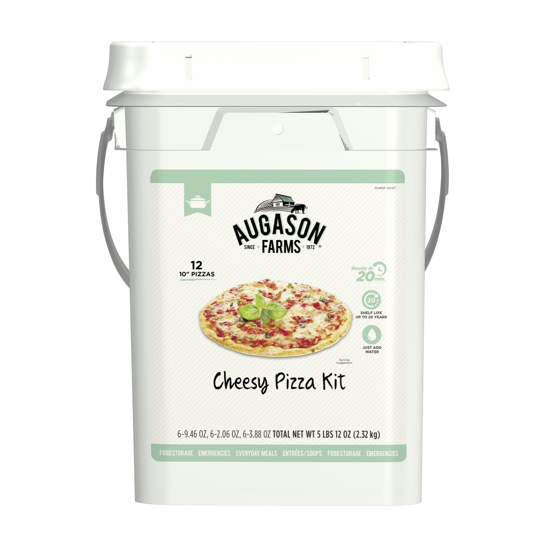 Augason Farms Cheesy Pizza Kit Emergency Survival Food 5 lbs 12 oz 4-Gallon Pail 12 Pizzas by Blue Chip Group