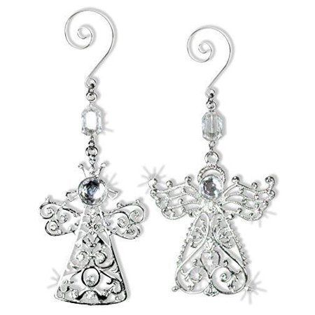 Angel Ornaments - Crystal and Metal Angel Ornaments~2 - Angel And Crystal