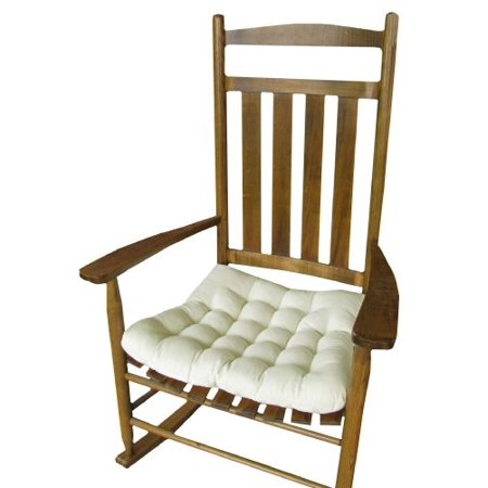 Terrific Rocking Chair Seat Cushion W Ties Natural Unbleached Cotton Duck Solid Color Jumbo Xxl Extra Extra Large Tufted Re Squirreltailoven Fun Painted Chair Ideas Images Squirreltailovenorg