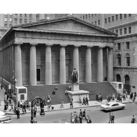 1950S 1958 Wall Street Federal Hall National Memorial New York City Usa Rolled Canvas Art   Vintage Images