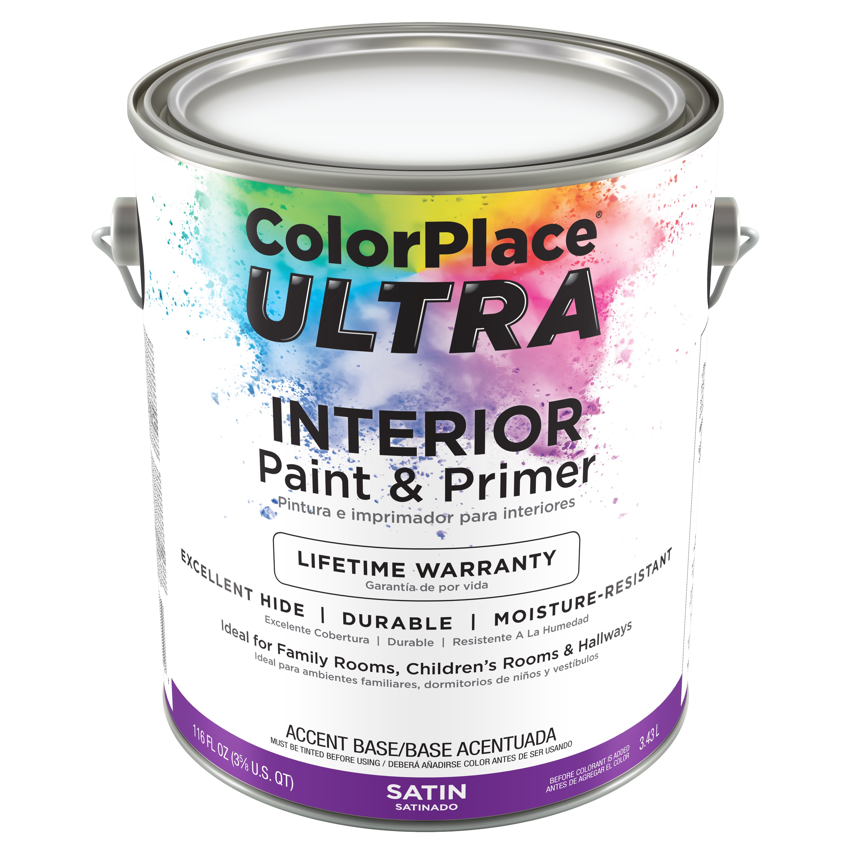 Color Place Ultra Satin Interior Paint & Primer Accent Base 1-Gal