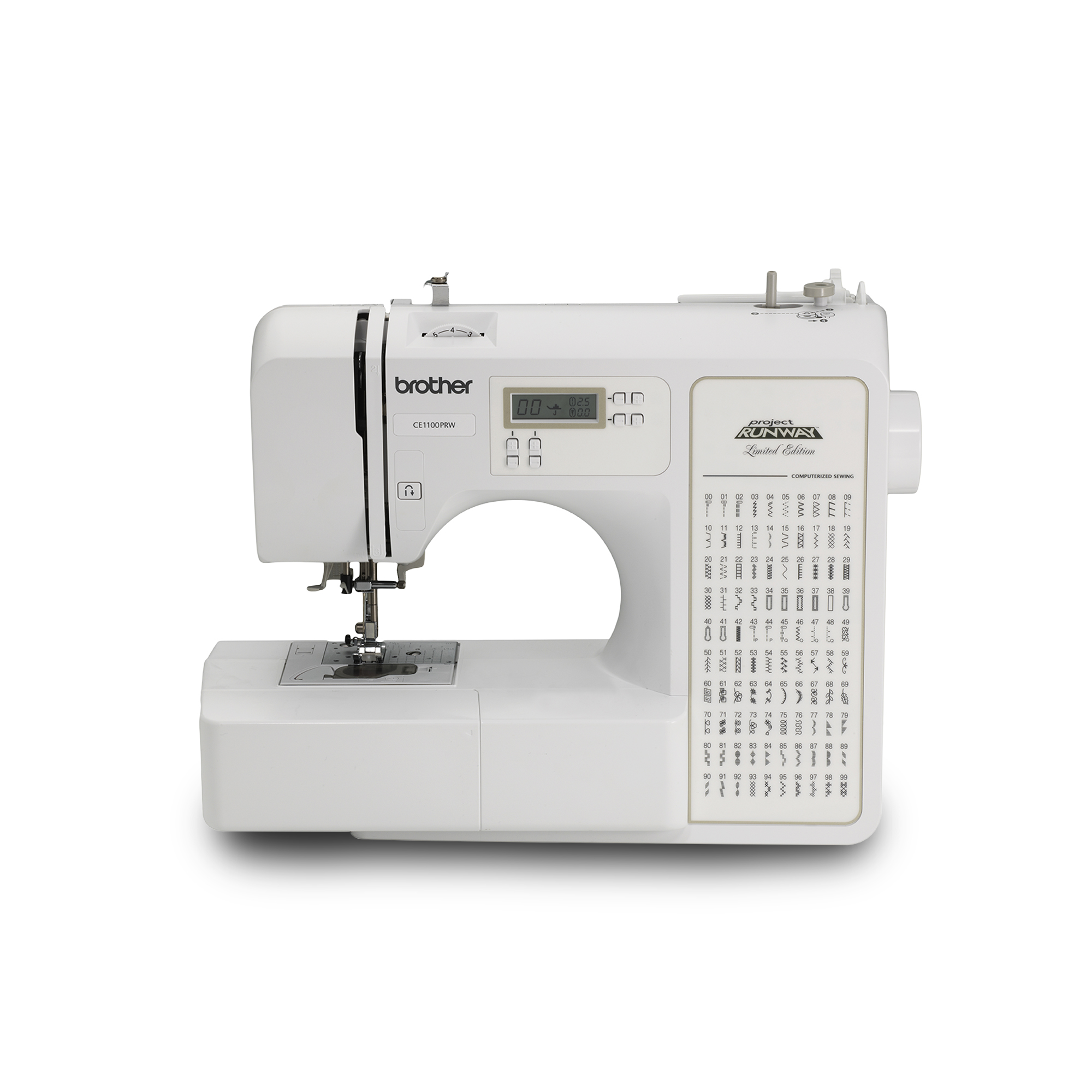 Brother Computerized 100-Stitch Project Runway Sewing Machine, CE1100PRW