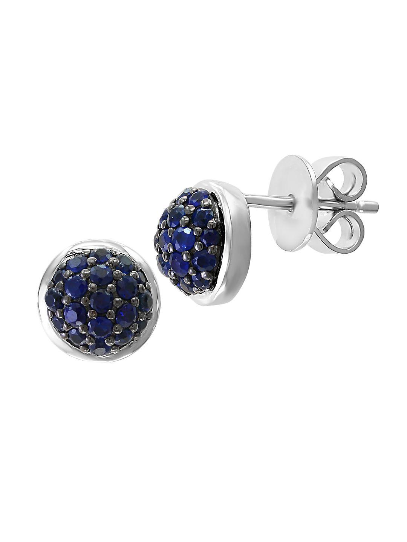 Sterling Silver & Sapphire Stud Earrings