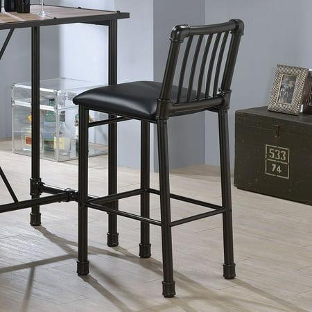 ACME Caitlin Bar Chair, Black, Set of 2 ()