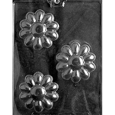 Grandmama's Goodies F096 Flower Soap Bar Chocolate Candy Soap Mold with Exclusive Molding Instructions