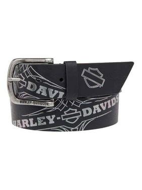 f478dd3d7c Product Image Women's Mirage Foil Printed Belt, Genuine Leather  HDWBT11024-BLK, Harley Davidson
