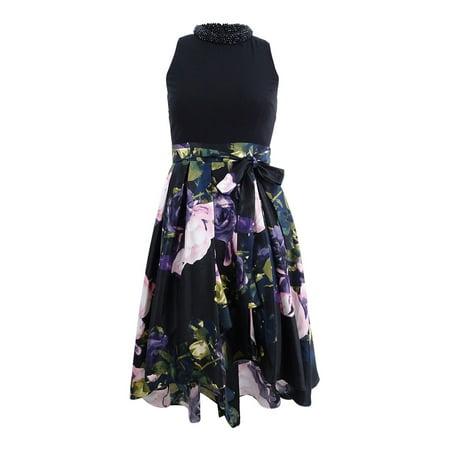 - SL Fashions Women's Plus Size Embellished High-Low Dress