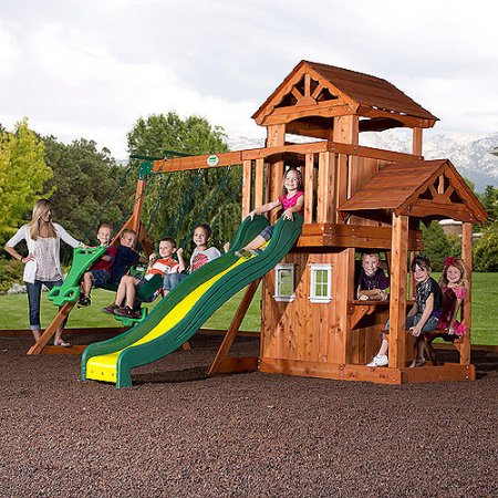 Backyard Discovery Tanglewood Cedar Wooden Swing Set