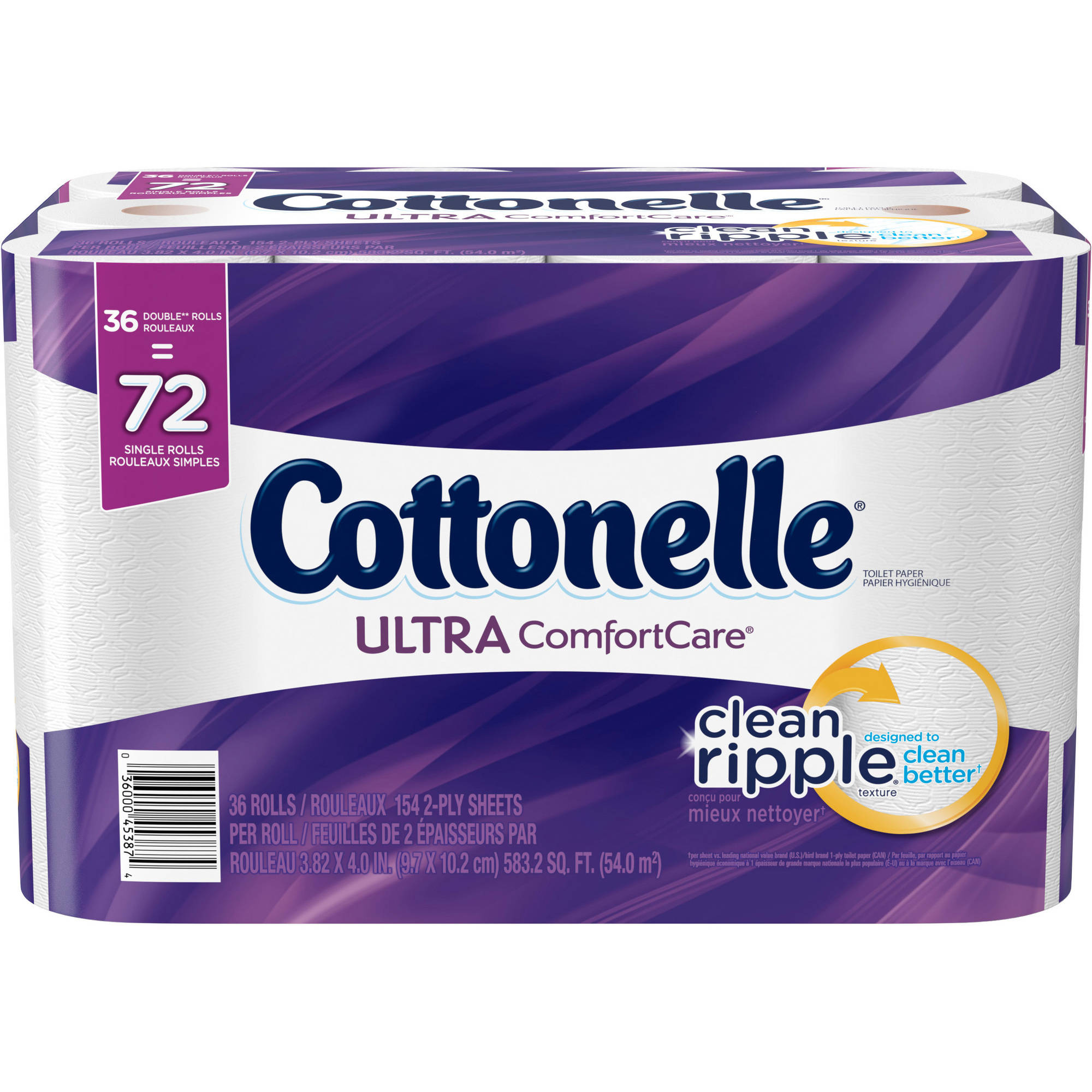 Cottonelle Ultra Comfort Care Toilet Paper, 36 Double Rolls