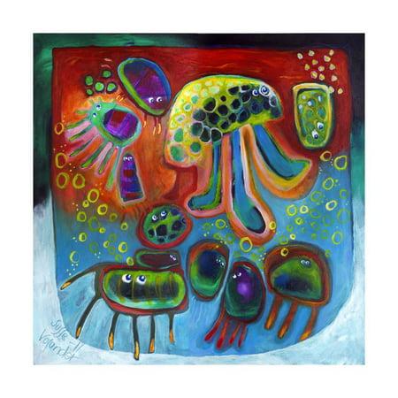 Jellyfish Party Print Wall Art By Susse Volander (Süße Sonnenbrille)