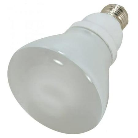 Satco Compact - Satco Lighting S7248 Single 15 Watt R30 Shaped Medium (E26) Base Compact Fluorescent Bulb